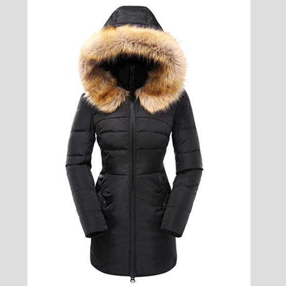 78a6f812f 1 Day Sale Price- Valuker Women's Down Coat w/ Fur